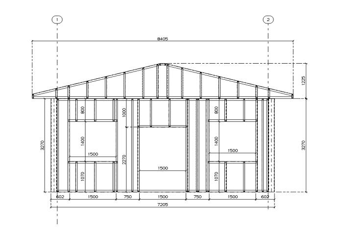 Схема павильона из ЛСТК